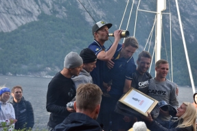 Men's winners and course record holders Lelle Moberg and Daniel Hansson (Team Swedish Armed Forces).