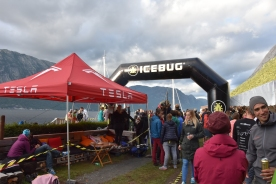 The finish area at Flørli.